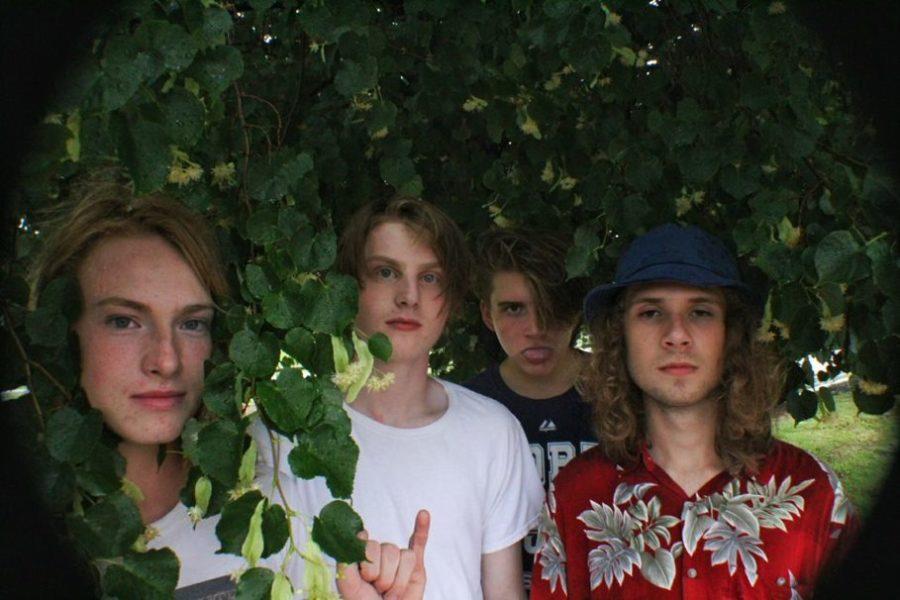 Drummer+Cannon+Dunwoody%2C+lead+singer+Roman+Constantino%2C+bassist+Joseph+Murphy%2C+and+guitarist+Casey+Pluckinski.