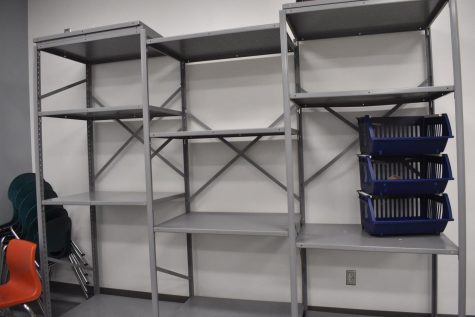 Shelves where item will be placed.